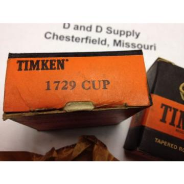 Timken 1729 Tapered Roller Bearing Cup, New-Old-Stock