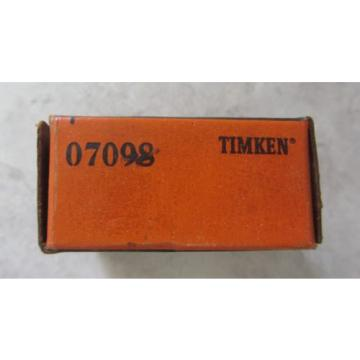 TIMKEN 07098 Tapered Roller Bearing Cone - NEW Old Stock Made in USA - FREE SHIP