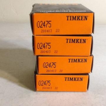 TIMKEN 02475 Tapered Roller Bearing New