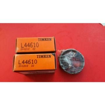 2 pcs. TIMKEN L44610  TAPERED ROLLER BEARING Cup