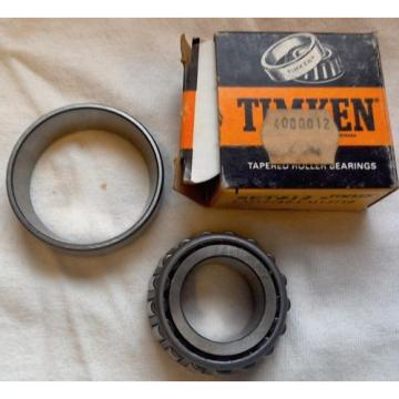 Timken LM12749/LM12710 Tapered Roller Bearing Cone & Cup Set #12 FREE SHIPPING