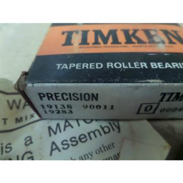 Timken Precision Tapered Roller Bearing Cup and Cone 19138 19283 90011 New