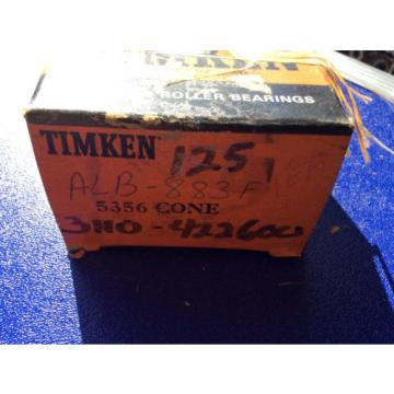 (1) Timken 5356 Tapered Roller Bearing, Single Cone, Standard Tolerance, Straigh