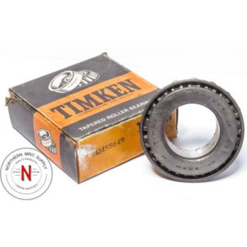 Timken HM88649 Tapered Roller Bearing, Steel Standard Precision, Single Cone