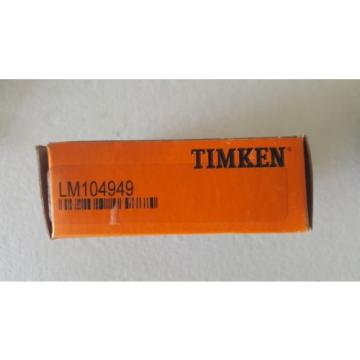 LM104949 TIMKEN TAPERED ROLLER BEARING CONE