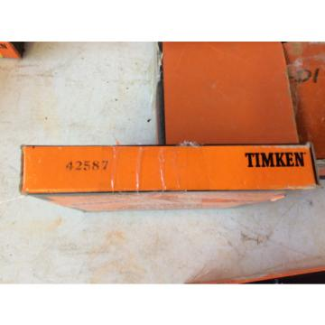 """(1) Timken 42587 Tapered Roller Bearing Outer Race Cup, Steel, Inch, 5.875"""" Oute"""