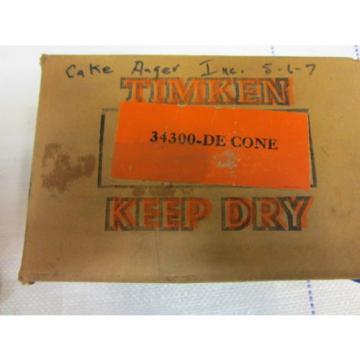 TIMKEN TAPERED ROLLER BEARING DOUBLE CONE 34300DE - NOS