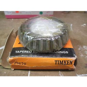 29670 TIMKEN New Tapered Roller Bearing
