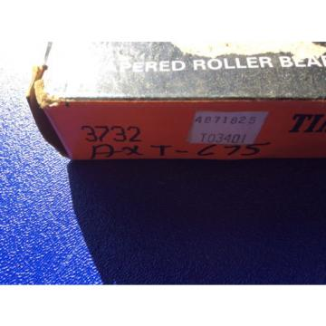 "(1) Timken 3732 Tapered Roller Bearing Outer Race Cup, Steel, Inch, 3.875"" Outer"