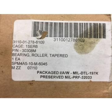 Timken Tapered Roller Bearing Y30308M Isoclass AN/MLQ-36 Lav