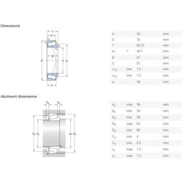 SKF 32306 J2/Q Tapered roller bearings