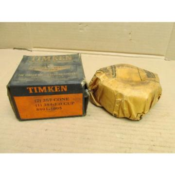 NIB TIMKEN 2x 387 TAPERED ROLLER BEARING CONE & 384-ED CUP SET QTY 2 387 1 384ED