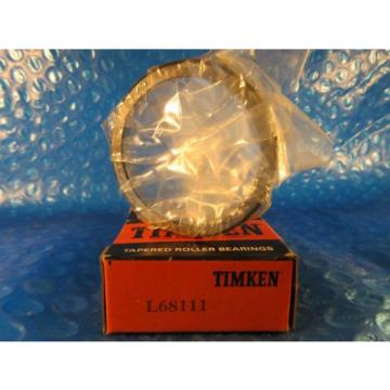 "Timken L68111, Tapered Roller Bearing Single Cup; 2.361"" OD x 0.4700"" Wide, USA"