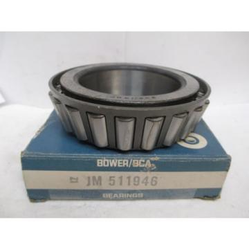 NEW BOWER BCA TAPERED ROLLER BEARING JM 511946 JM511946