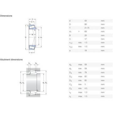 SKF 30210 J2/Q Tapered roller bearings