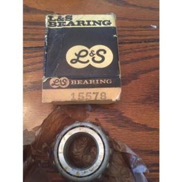 L&S 15578 Tapered Roller Bearing Cone New Old Stock NOS Vintage USA