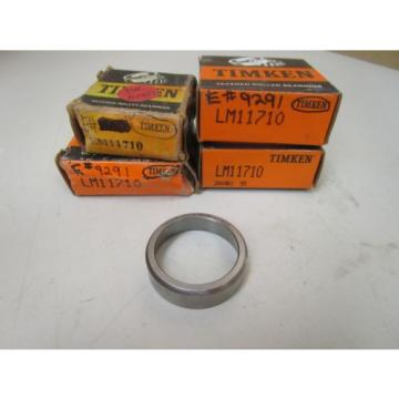 "NEW TIMKEN TAPERED ROLLER BEARING OUTER RACE LM11710 ""LOT OF 4"""