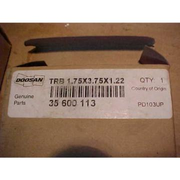 1) **NEW** DOOSAN #35600113 Tapered Roller Bearing, Cup and Cone  Ships Quick.