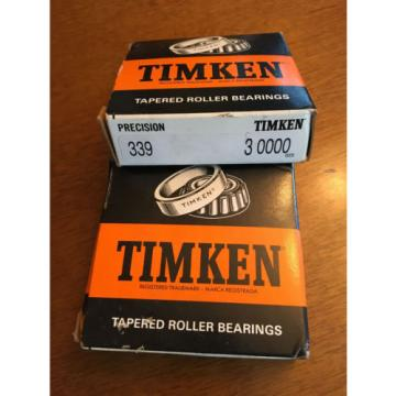 TIMKEN PRECISION TAPERED ROLLER BEARING 339  3 0000 ~ New in box