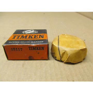 """1 NIB TIMKEN 15117 TAPERED ROLLER BEARING CONE 1-13/16"""" ID X 13/16"""" W"""