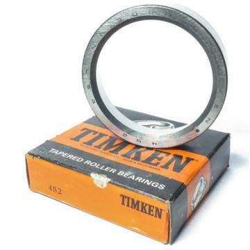 """NEW Timken 452 Tapered Roller Bearing Cup OD: 4-1/4"""", Width: 1.063"""""""