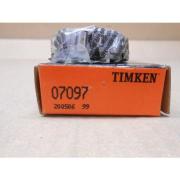 1 NIB TIMKEN 07097 TAPERED ROLLER BEARING CONE 0.9843 IN ID,0.5613 IN CONE WID