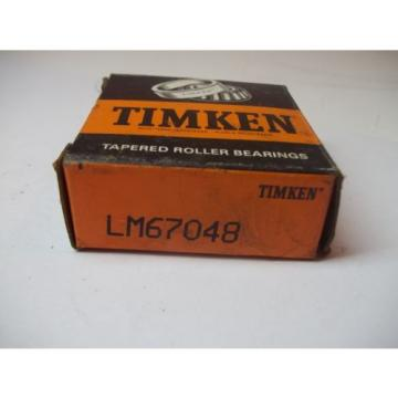 NIB TIMKEN TAPERED ROLLER BEARINGS MODEL # LM67048 NEW OLD STOCK