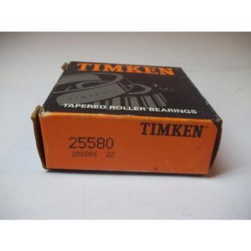 NIB TIMKEN TAPERED ROLLER BEARINGS MODEL # 25580 NEW OLD STOCK 200206 22