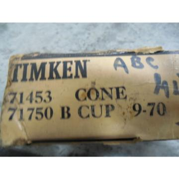 NEW Timken Tapered Roller Bearing 71453 Cone 71750 B Cup 9-70