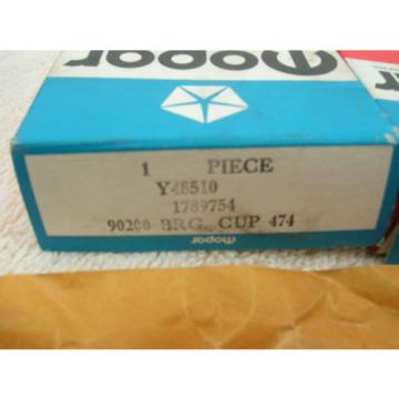 2 NIB Mopar Y48510  TIMKEN LM48510 TAPERED ROLLER BEARING CUP