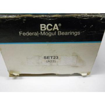 BCA FEDERAL MOGUL A23 TAPERED ROLLER BEARING ASSEMBLY SET23 NEW IN BOX