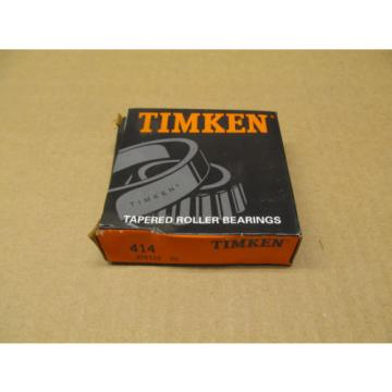 "1 NIB TIMKEN 414 TAPERED ROLLER BEARING CUP STANDARD PRECISION 3-15/32"" X 7/8"""