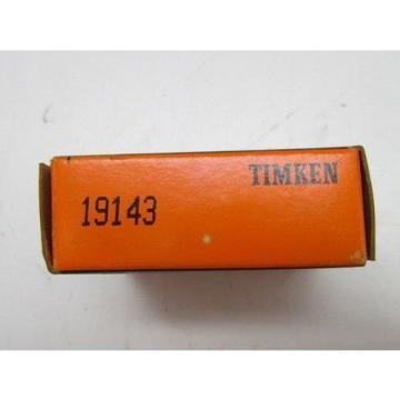 Timken Tapered Roller Bearing 19143 Cup Race NIB