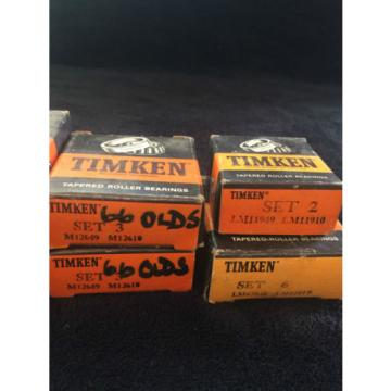 Timken Tapered Roller Bearings Lot LM11949/LM11910 LM67048/67010 M12649/M12610