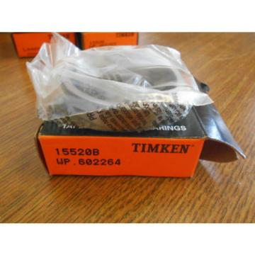 NEW TIMKEN TAPERED ROLLER BEARINGS 15520B WP.602264