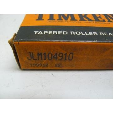 LOT OF 2  NEW TIMKEN JLM104910 BEARING TAPERED ROLLER SINGLE CUP