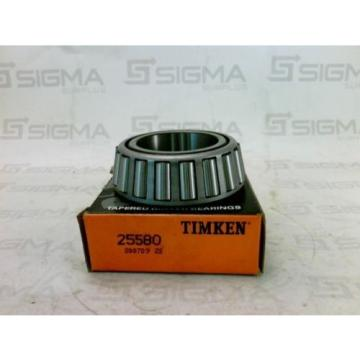 Timken 25580 Tapered Roller Bearing New
