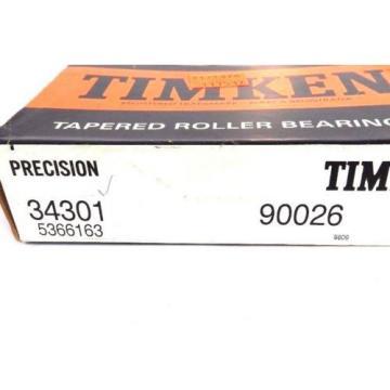 NIB TIMKEN 34301 TAPERED ROLLER BEARING 90026 5366163 W/ 34478 CUP