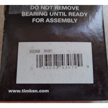 Timken IsoClass 30306M 9\KM1 Tapered Roller Bearing