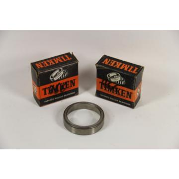 "LOT OF 2 Timken 15520 Tapered Roller Bearing Outer Race, 2.250"" OD, 0.5313"" Cup"