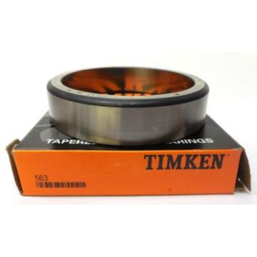 "TIMKEN TAPERED ROLLER BEARING 563, STEEL, OD 5"", W 1 1/8"", MADE IN USA"