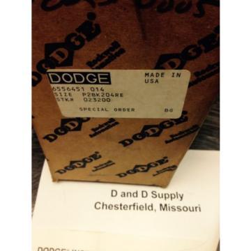 Dodge 023200 P2BK204RE, TYPE K, Pillow Block, Taper Roller Bearing, USA