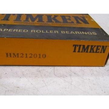 Timken HM212010 Tapered Roller Bearing Race Cup NIB