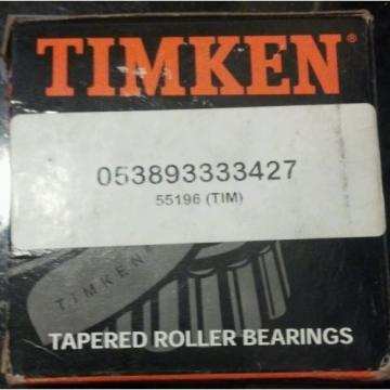 NEW Timken Tapered Roller Bearing 55196 (0-53893-33342-7), *TIMKEN*