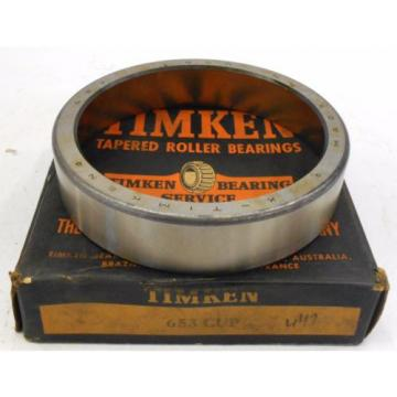 "TIMKEN TAPERED ROLLER BEARINGS 653 CUP, 5-3/4"" OD, SINGLE CUP, CHROME STEEL"