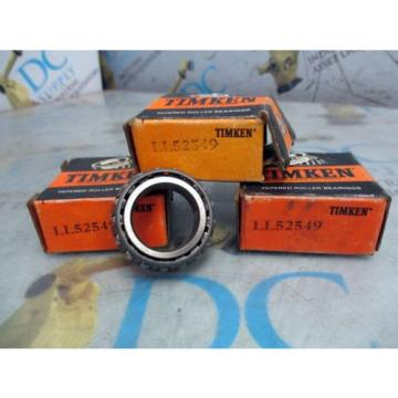 TIMKEN LL52549 TAPERED ROLLER BEARING LOT OF 3 NIB