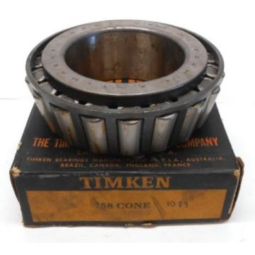 "TIMKEN TAPERED ROLLER BEARING, 758 CONE, 3.3750"" BORE"