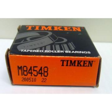 Timken M84548 Tapered Roller Bearing: 25.4mm Bore, 57.15mm O.D., 19.431mm Width