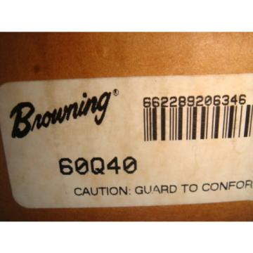 Browning 60Q40 Roller Chain Sprocket Split Taper 60 Pitch 40 Teeth NEW IN BOX