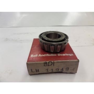 BDI Tapered Roller Bearing Cone LM 11949 LM11949 New